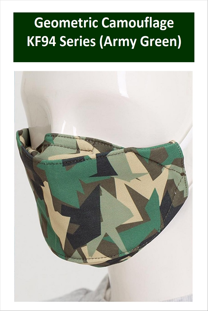 GEOMETRIC CAMOUFLAGE Series Washable Fabric Face Mask (Army Green)
