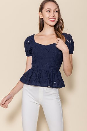 | BACKORDER | Chrysalis Crochet Top (Navy)