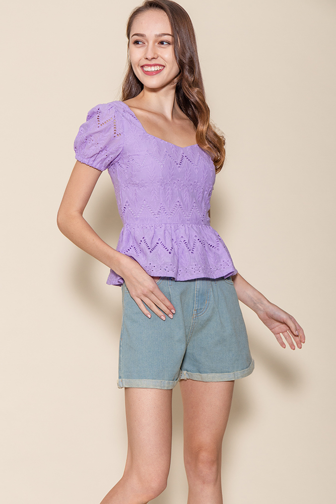 Chrysalis Crochet Top (Lavender)