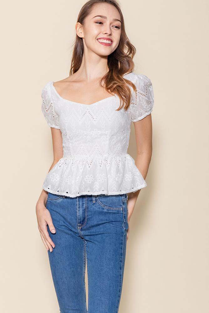 | BACKORDER | Chrysalis Crochet Top (White)