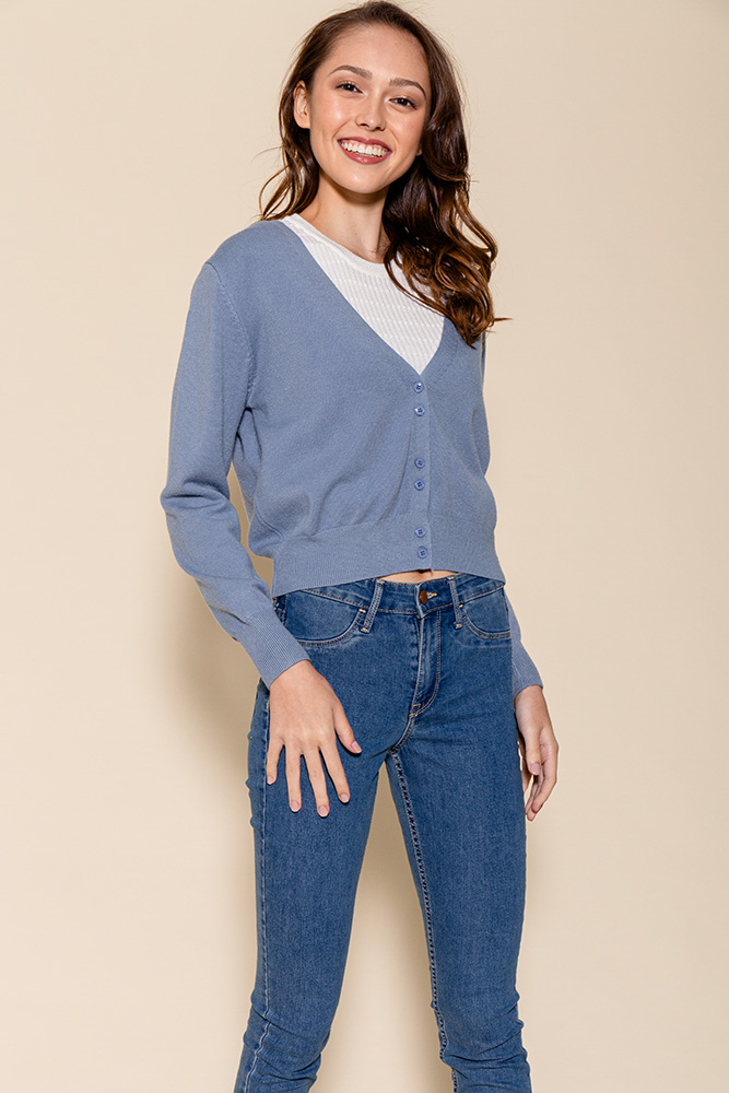 SAMMY LIGHTWEIGHT CARDIGAN (ASH BLUE)