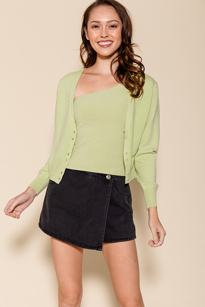 SAMMY LIGHTWEIGHT CARDIGAN (APPLE MINT)