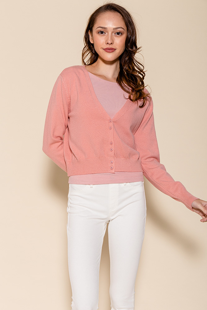 SAMMY LIGHTWEIGHT CARDIGAN (CANDY PINK)