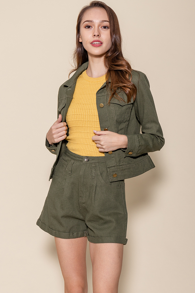 Urban Denim Jacket (Khaki)