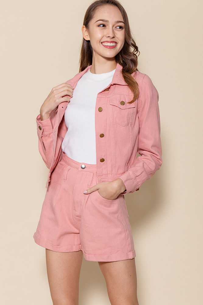 Urban Denim Jacket (Candy Pink)