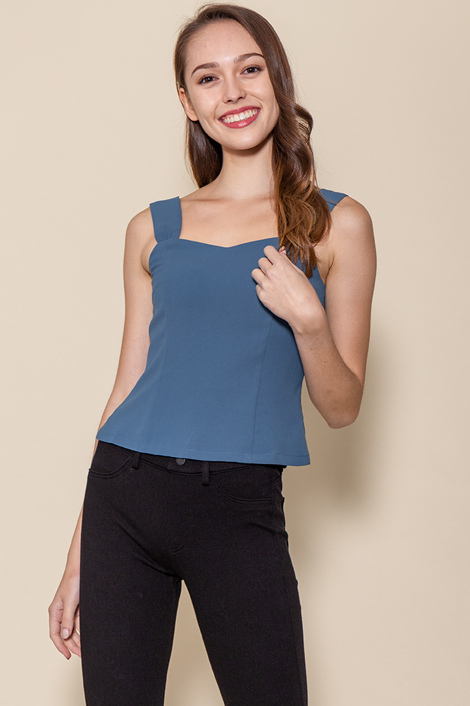 Bella Sweetheart Top (Deep Blue)