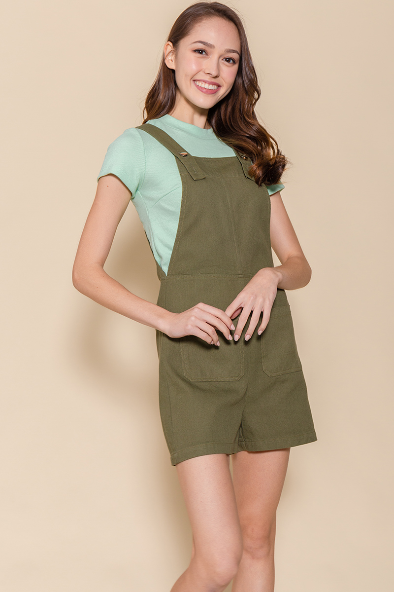 The Little Denim Dungaree (Khaki)