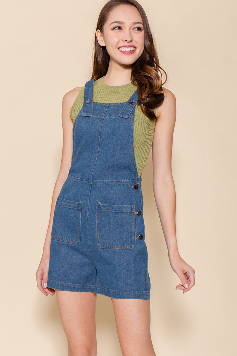 The Little Denim Dungaree (Washed Blue)