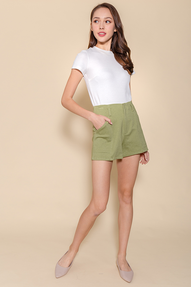 Hello Vacay! Shorts (Light Khaki)