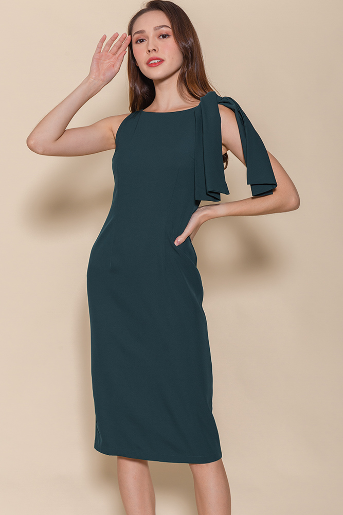 Paris Pencil Dress (Emerald)