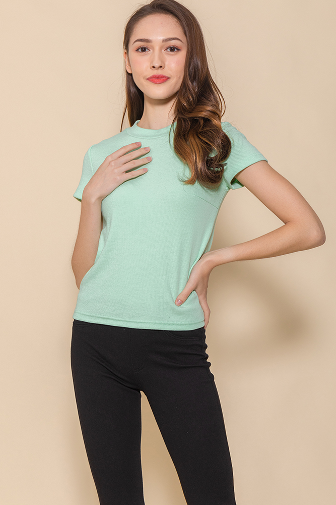 Bexley Basic Ribbed Top (Mint)